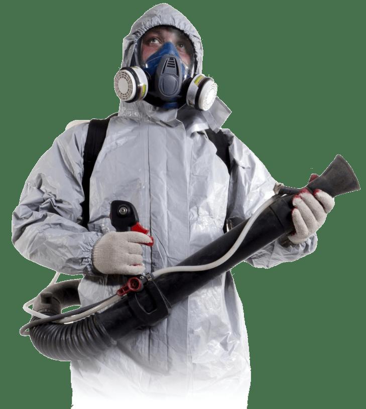 Специалист по уборке после пожара